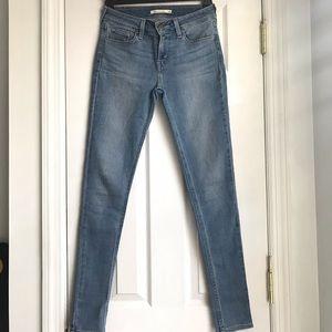 Levi's 535 legging super skinny jeans light